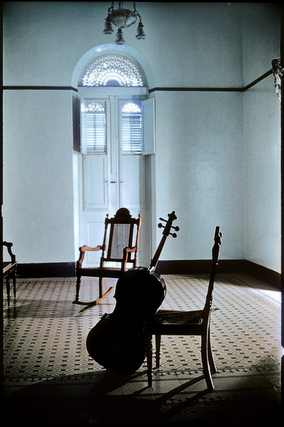 PUERTO RICO. Mayaguez. 1955. Pablo Casals' cello.