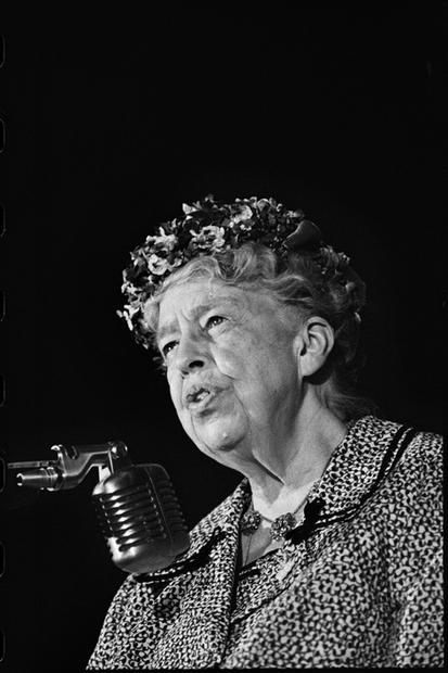 USA. Los Angeles, California. 1960. Eleanor Roosevelt.