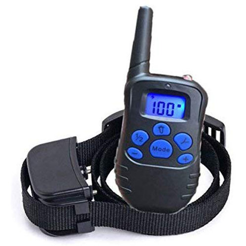 Rechargeable & Waterproof Dog Training Collar with Remote