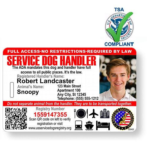 Custom Holographic QR Code Handler Service Dog ID Card