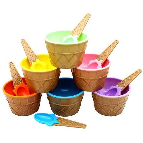 Kids Ice Cream Bowl Spoon