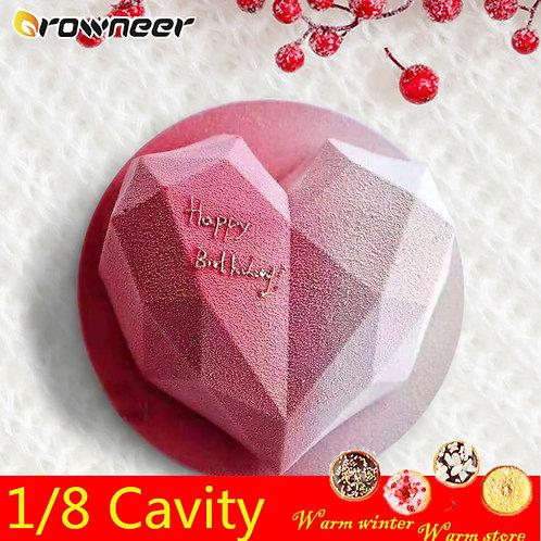 3D Diamond Love Heart Shape Mold Silicone