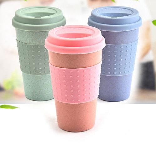 Reusable Bamboo Fibre Coffee Cups Eco Friendly