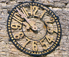Alderminster church clock