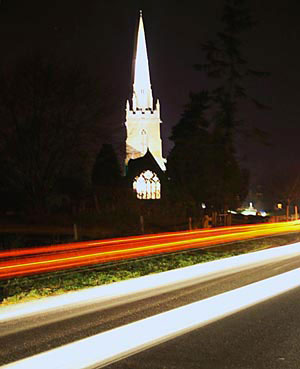 St Swithins Church by night