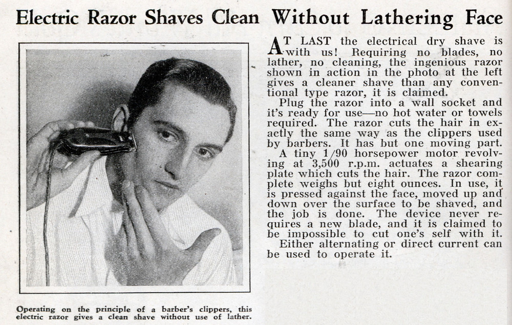 first men's electric_razor