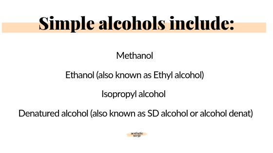simple alcohols include