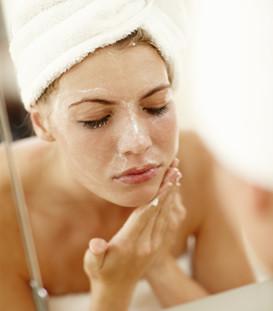 face scrub woman