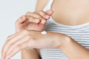 applying moisturiser