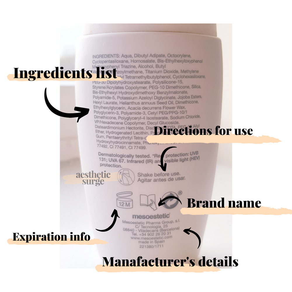 how to understand the back of your skincare bottle