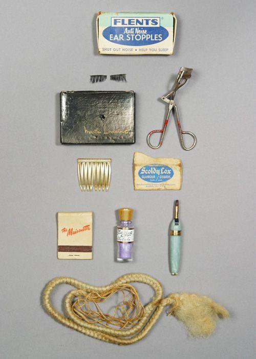 Marilyn Monroe's makeup drawer
