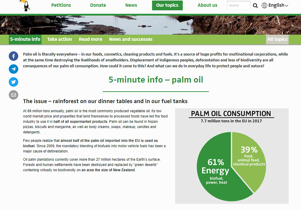 rainforest rescue website screenshot