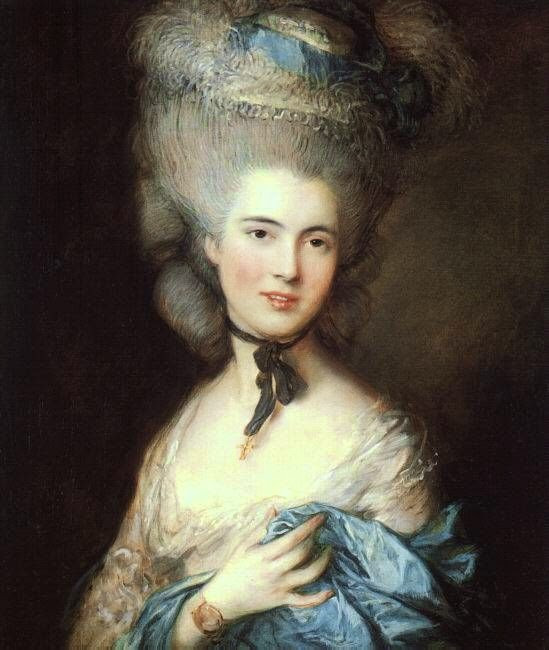 Duchess of Beaufort high hairstyles 1800s