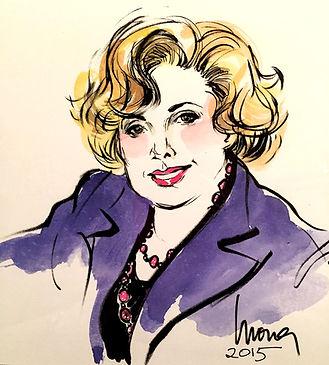 Linda Deutsch Portrait by Mona Edwards