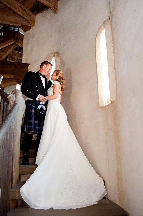 Happy Wedding Couple at Otttis Castle in St. Augustine Florida