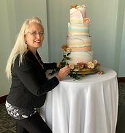 wedding guest enjoying cake
