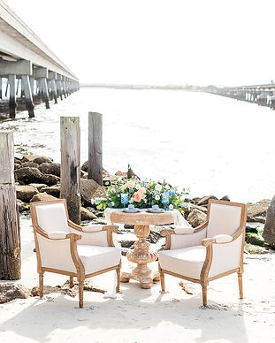 Sweetheart Table on Amelia Island Beach, FL