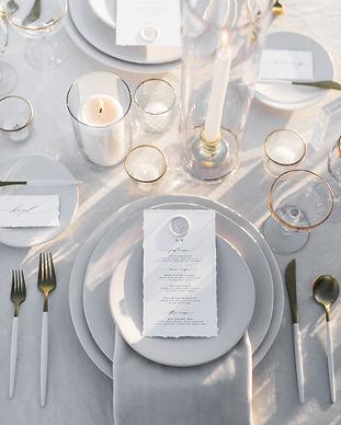 black tie wedding tablescape