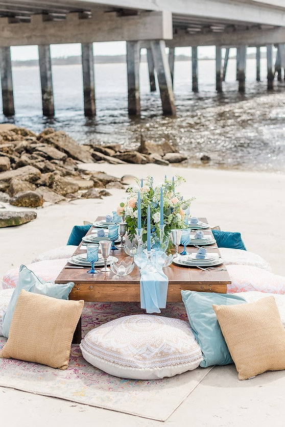 picnic on amelia island, fl beach