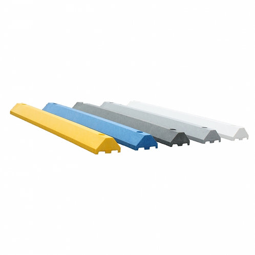 Low-Profile 6 Foot Parking Blocks (Wheel Stops) made from 100% Recycled Plastic with Lifetime Warranty