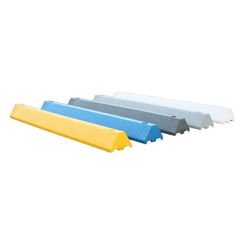 4 Foot Parking Blocks (Wheel Stops) made from 100% Recycled Plastic with Lifetime Warranty