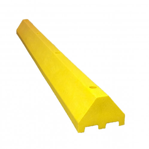 8 Foot Truck Parking Blocks (Wheel Stops) made from 100% Recycled Plastic with Lifetime Warranty