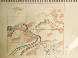 sketch for mural