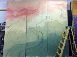 Adding details to mural