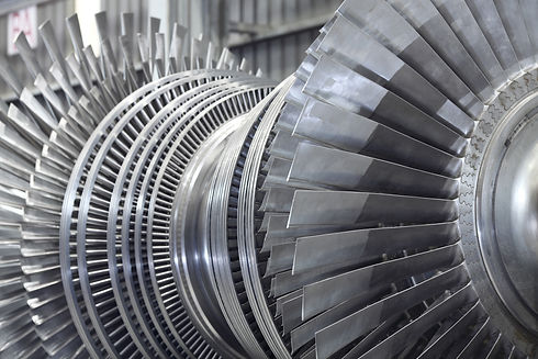 Internal rotor of a steam Turbine at wor