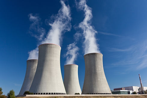 Cooling tower of nuclear power plant Duk