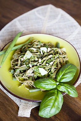 Pasta with Homemade Pesto Michelle Boehm nutritional therapy nutritionist London recipes healthy