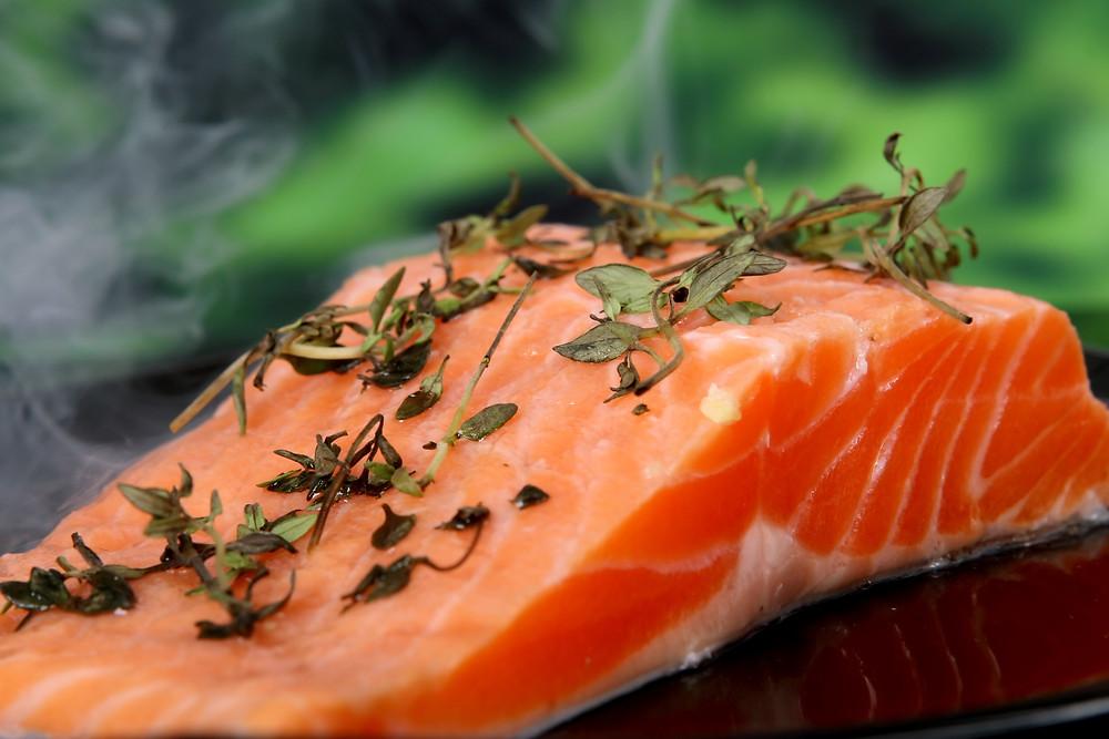 Salmon, SIBO, gut health, gut bacteria, microbiome