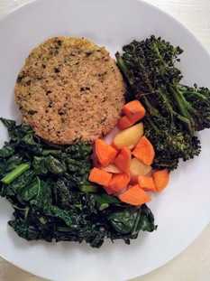 Delicious vegetable Patty with Veg from Client on Detox Plan