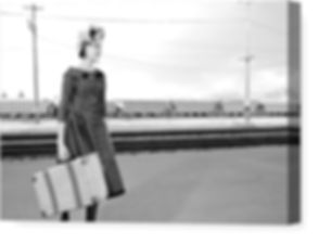 vintage-woman-with-suitcase-waiting-for-