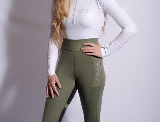 Khaki Green First Edition Technical Leggings