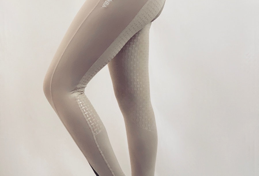 Beige Full Seat Competition Leggings