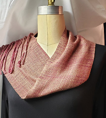 Woven Neck Twist/Scarf-Silk