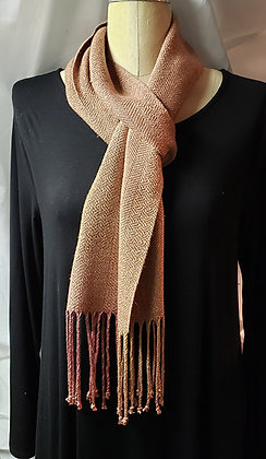 "Silk Handwoven Scarf-""Rose Sand"""