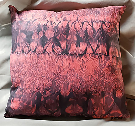 Upcycled leather-shibori dyed
