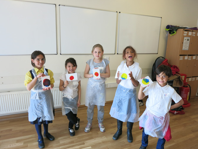 Our first class in Swiss Cottage Community Centre NW3! Creative Young Artists in action!