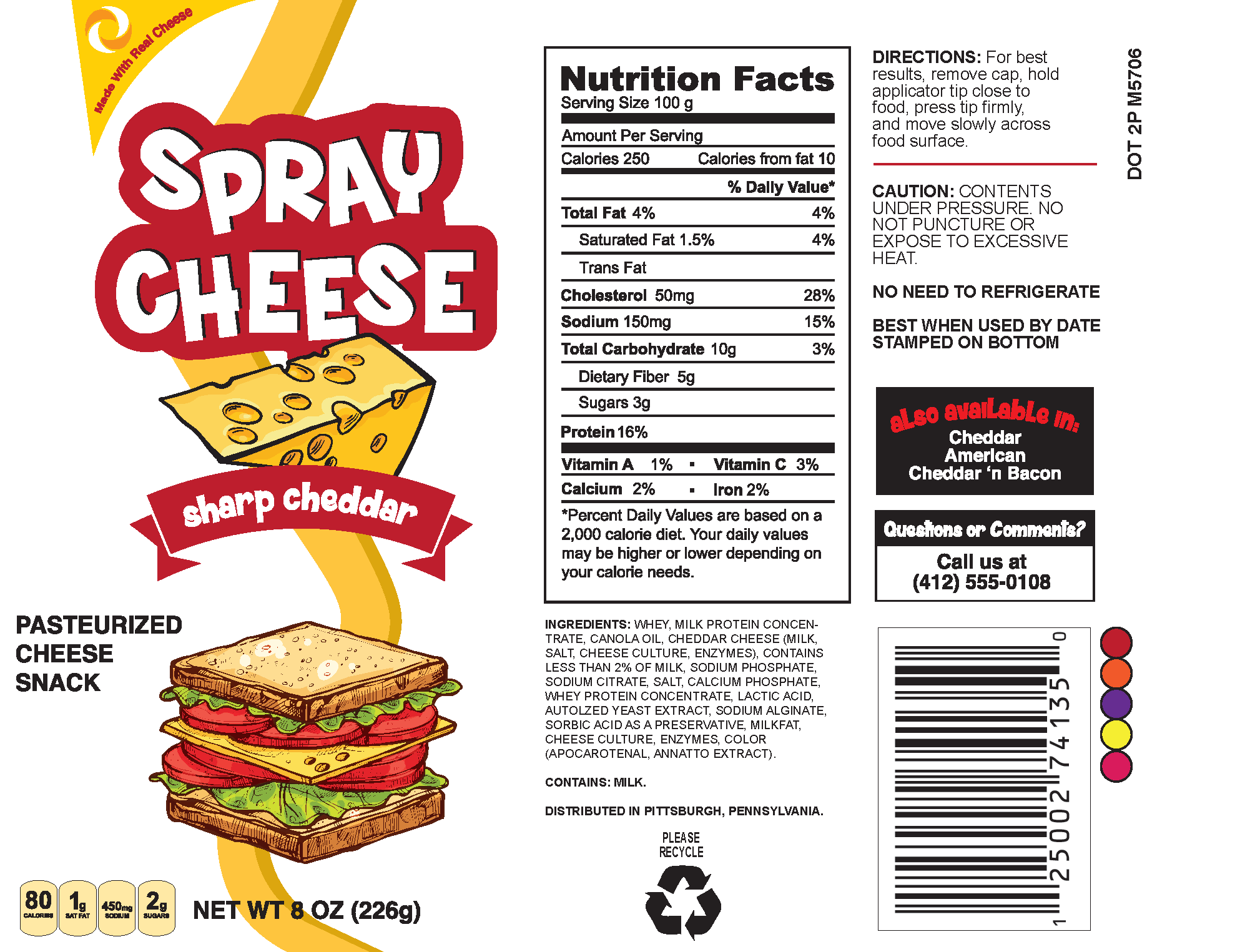 CHEESE SPRAY CAN LABEL