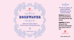 ROSEWATER LABEL