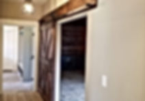 Hand-made rustic barn door