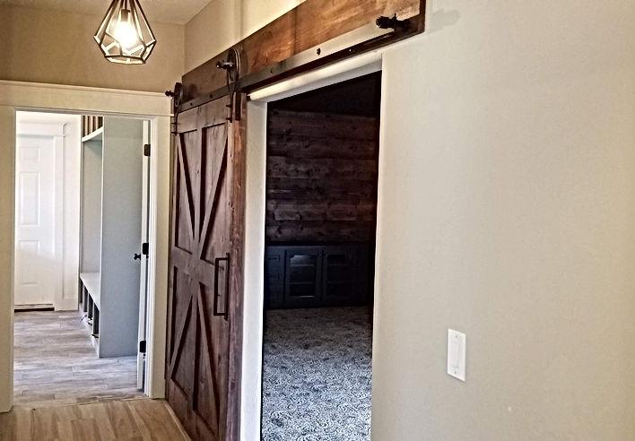 Hand-made rustic barn door