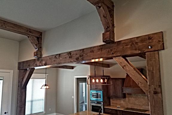 Rustic wooden beams