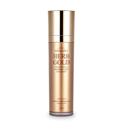ESTHEROCE Herb Gold Whitening & Wrinkle-care Emulsion, 135ml