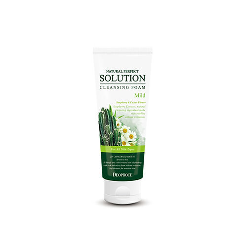 DEOPROCE Natural Perfect Solution Cleansing Foam - Mild, 170g