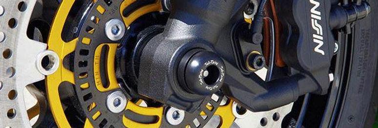 SATO RACING AXLE SLIDERS / PROTECTORS FOR 2013-2015 KAWASAKI ZX-6R 636 (PAIR)