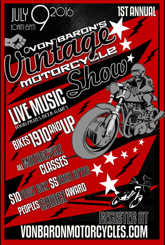 Von Baron Vintage Motorcycle Show