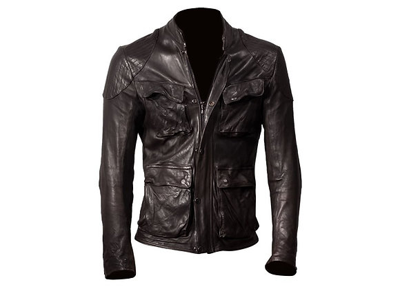 DMD BROWN LEATHER JACKET